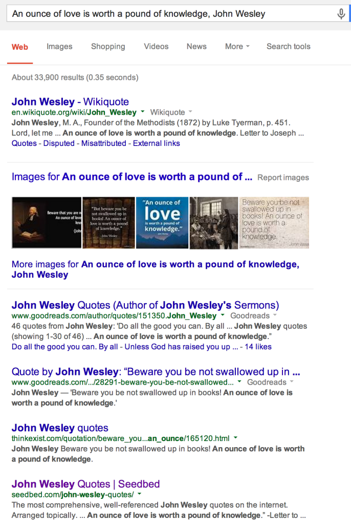 Ounce of love, Wesley